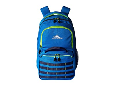High Sierra Joel Lunch Kit Backpack (Sport Blue/True Navy/Lime) Backpack Bags