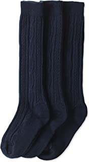 Big Girls' Cable-Knit Knee-High Sock Three-Pack
