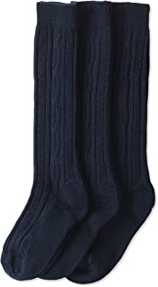 girls navy blue knee high socks