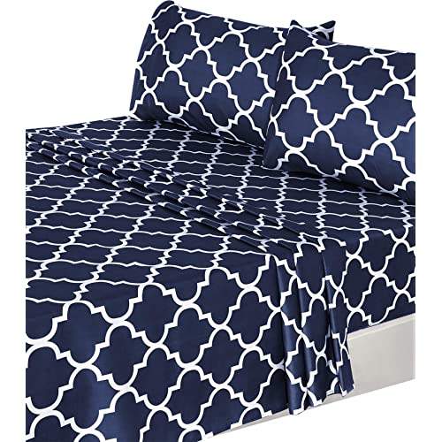 Navy And White Sheets Amazon Com