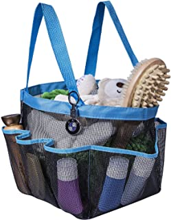 (Blue) - Attmu Portable Shower Caddy with 8 Mesh Storage Pockets, Quick Dry Shower Tote Bag Oxford Hanging Toiletry and Ba...