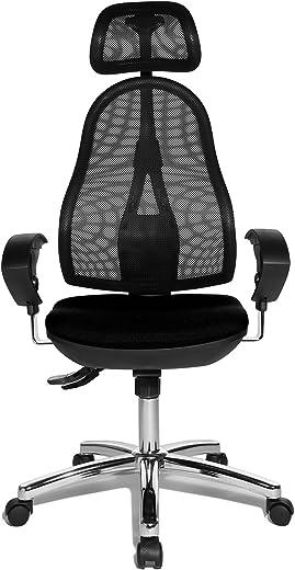 Topstar OP290UG20X Open Point SY Bürostuhl, Schreibtischstuhl, Syncro-Bandscheiben-Drehstuhl, inkl. höhenverstellbare Armlehnen und Kopfstütze,…