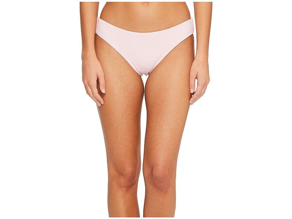 Splendid Color Block Retro Bikini Bottom (Blush) Women