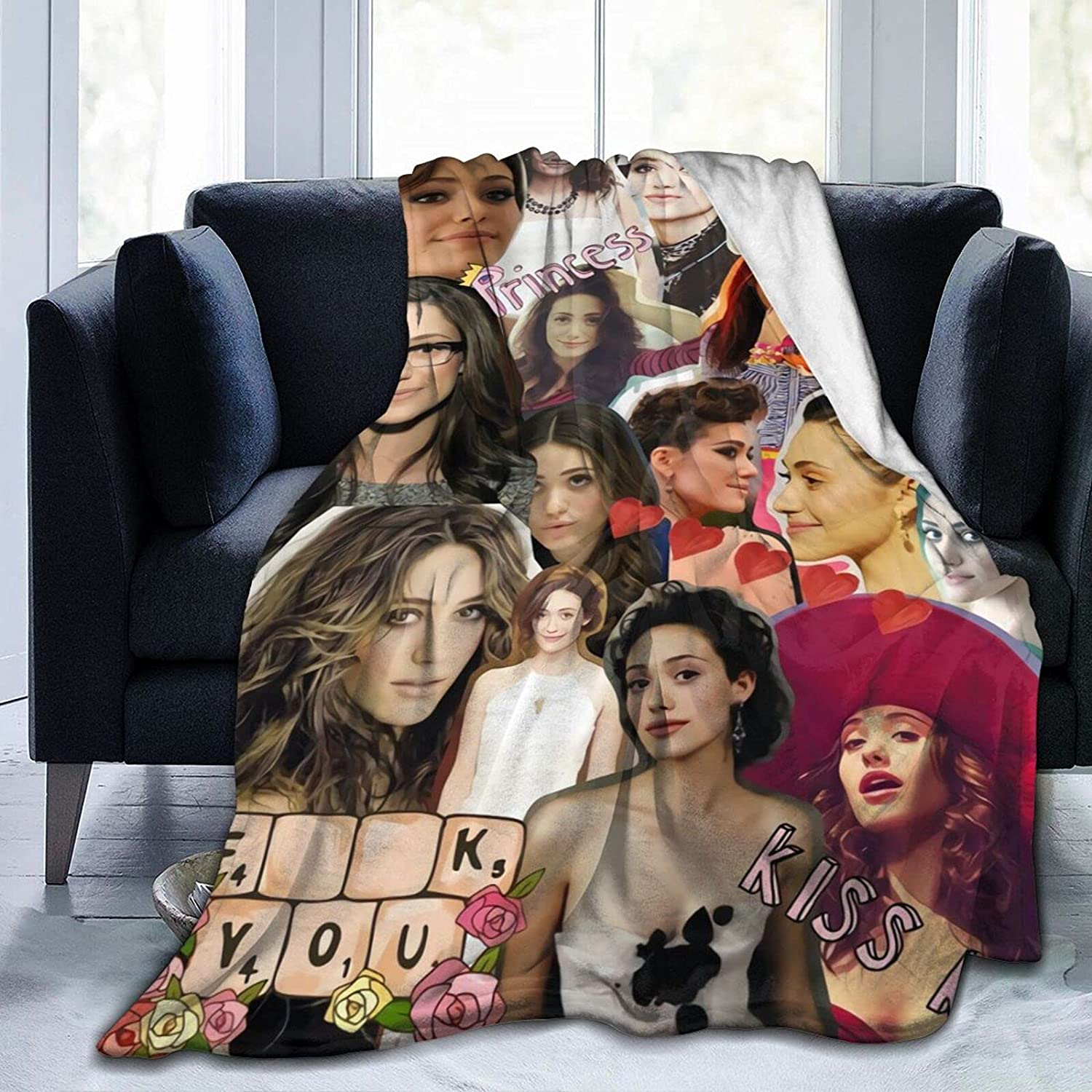 Shameless-Fiona Time sale Super intense SALE Gallagher Emmy Rossum Comfortable Soft and Warm