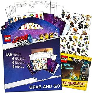 Lego Movie 2 & Batman Stickers Party Supplies Set ~ 12 Lego Batman & Lego Movie 2 Party Favors Sheets (250+ Stickers)