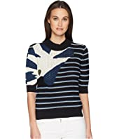 Sonia Rykiel - Bouclette Stripes Short Sleeve Sweater