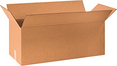 """Aviditi 301212 Long Corrugated Cardboard Box 30"""" L x 12"""" W x 12"""" H, Kraft, for Shipping, Packing and Moving (Pack of 15)"""