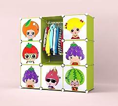 Boîtes de rangement pour enfant enfants sans Armoire avec étagères de rangement pour armoire de rangement vêtements Rail J...