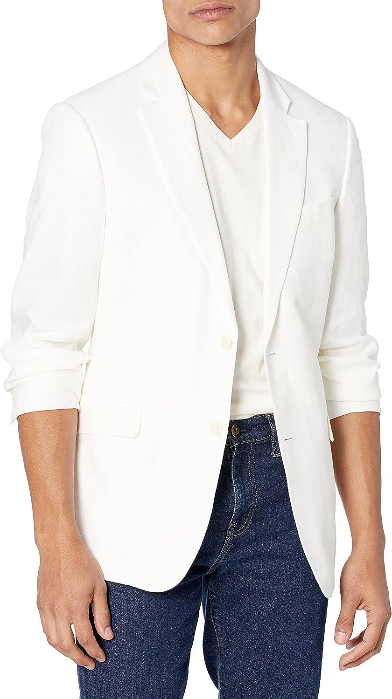 Tommy Hilfiger Men's Jacket Modern Fit White Linen Suit Separates-Custom Jacket & Pant Size Selection