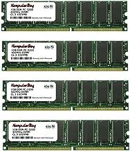 KOMPUTERBAY 4GB (4 x 1GB) DDR DIMM (184 pin) 400Mhz PC 3200 Low Density CL3.0 4 GB KIT
