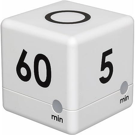 15 5 TimeCube Plus Voreingestellter Timer mit 4 LED-Leuchten f/ür Zeitmanagement 60 Min 30 erh/ältlich in unterschiedlichen Farben mit Countdown-Einstellungen und einstellbarer Lautst/ärke Wei/ß