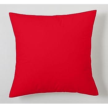 ESTELA - Funda de cojín Combi Lisos Color Rojo - Medidas 40x40 cm ...
