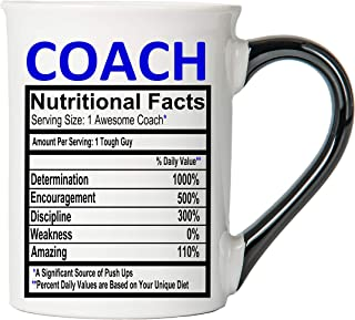 Cottage Creek Coach Mug Large 18 Ounce Ceramic Coach Coffee Mug/Coaching Gifts Food Label Coach Mug Coach Gifts [White]