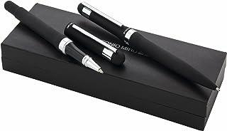 ANTONIO MIRO Set Boligrafo y Roller metálicos en Estuche con Logo Grabado - Ideal como Regalo - Satisfacción Garantizada!