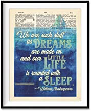 We Are Such Stuff As Dreams Are Made On - William Shakespeare Quote Art Print, Unframed, The Tempest, Vintage Highlighted ...