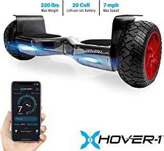 Hover-1 Nomad Hoverboard All Terrain with 8.5 inch Off Road Tires Hoverboard with Bluetooth Speaker LED Lights App Enabled for Kids and Adult UL 2272 Certified