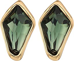 Robert Lee Morris - Green and Gold Clip Earrings