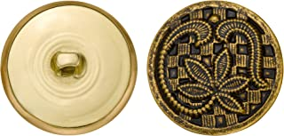 Size 36 Ligne C/&C Metal Products 5231 Leaves Metal Button Antique Gold 36-Pack C/&C Metal Products Corp