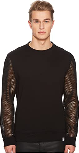 Versace Collection - Mesh Sleeve Sweatshirt