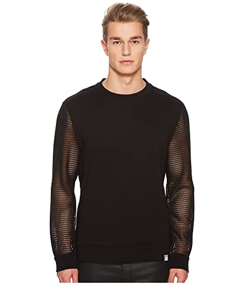 Versace Collection Mesh Sleeve Sweatshirt