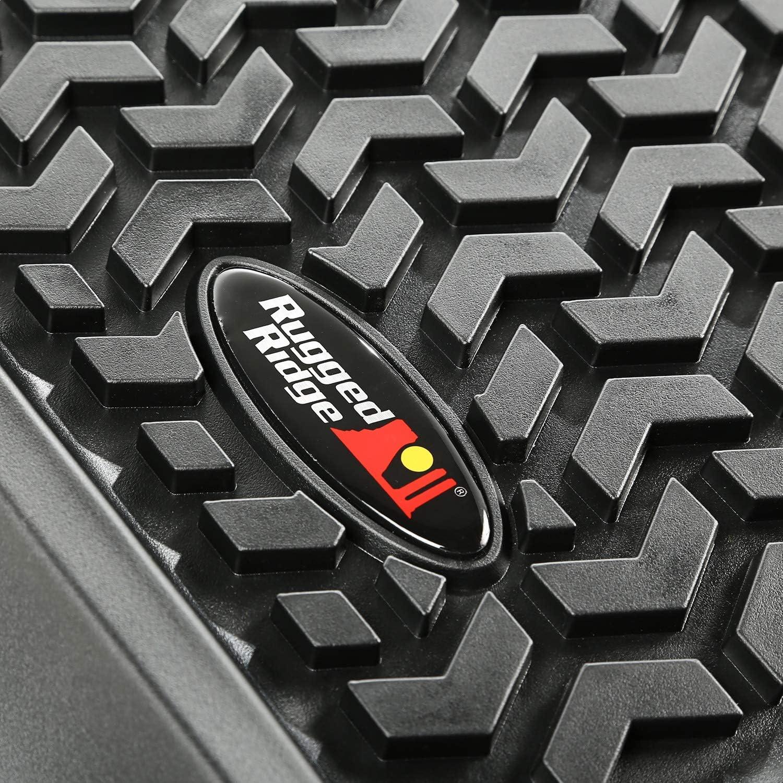 Rugged Ridge 82901.01 All-Terrain Black Front Floor Liner Pack of 2