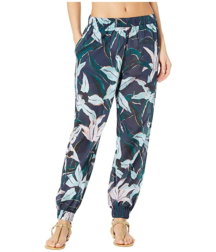 Tory Burch Swimwear Printed Beach Pants (Navy Desert Bloom) Women