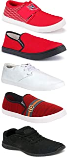Shoefly Sports Running Shoes/Casual/Sneakers/Loafers Shoes for MenMulticolors (Combo-(5)-1219-1221-1140-749-1037)