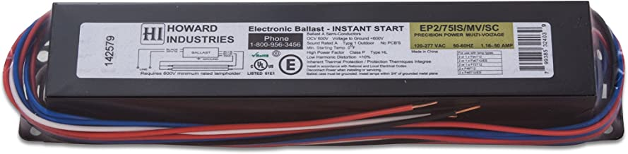 Howard Lighting EP2/75IS/MV/SC 75W 2 Lamp F96T12 Electronic Fluorescent Ballast