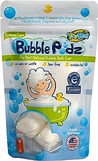 TruKid Bubble Podz, 8-Count, Unscented – Kids Bubble Bath for Sensitive Skin & Eczema – Bath Bubbles in Water Soluble Pods...