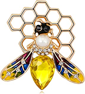 KristLand - Austrian Crystal Cute Animal Butterfly Dragonfly Brooches Pins Corsages Scarf Clips