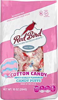 Red Bird Southern Refresh-Mints Cotton Candy Puffs, 10 oz bag | Made w/100% Pure Cane Sugar | Allergen-Free, Gluten-Free, Kosher and Individually Wrapped