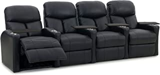 Octane Seating Octane Bolt XS400 Leather Home Theater Recliner Set (Row of 4)