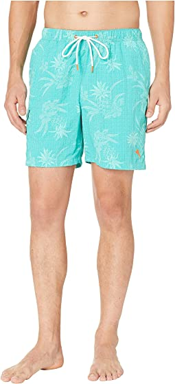 Naples Huli Pineapple Swim Trunk