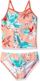 Kanu Surf girls Alania Floral Banded Tankini Beach Sport 2-Piece Swimsuit Tankini Set