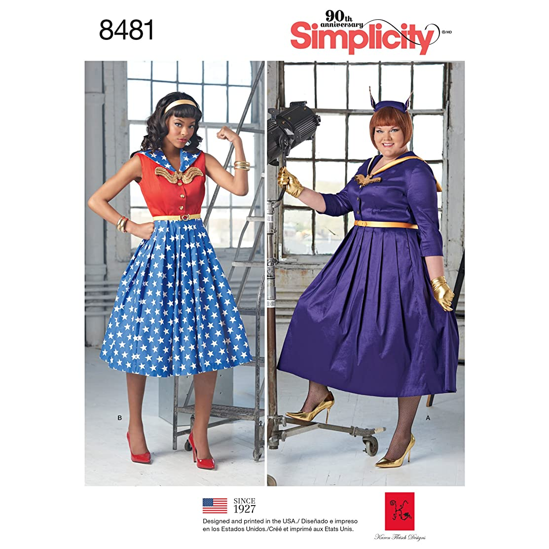 Simplicity Creative Patterns Misses' & Women's Rockabilly Dresses Pattern, AA (10-12-14-16-18)