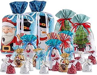 Giftmate ® - Bolsas para regalo con cinta de lazo - La forma más rápida de envolver regalos - 30 bolsas