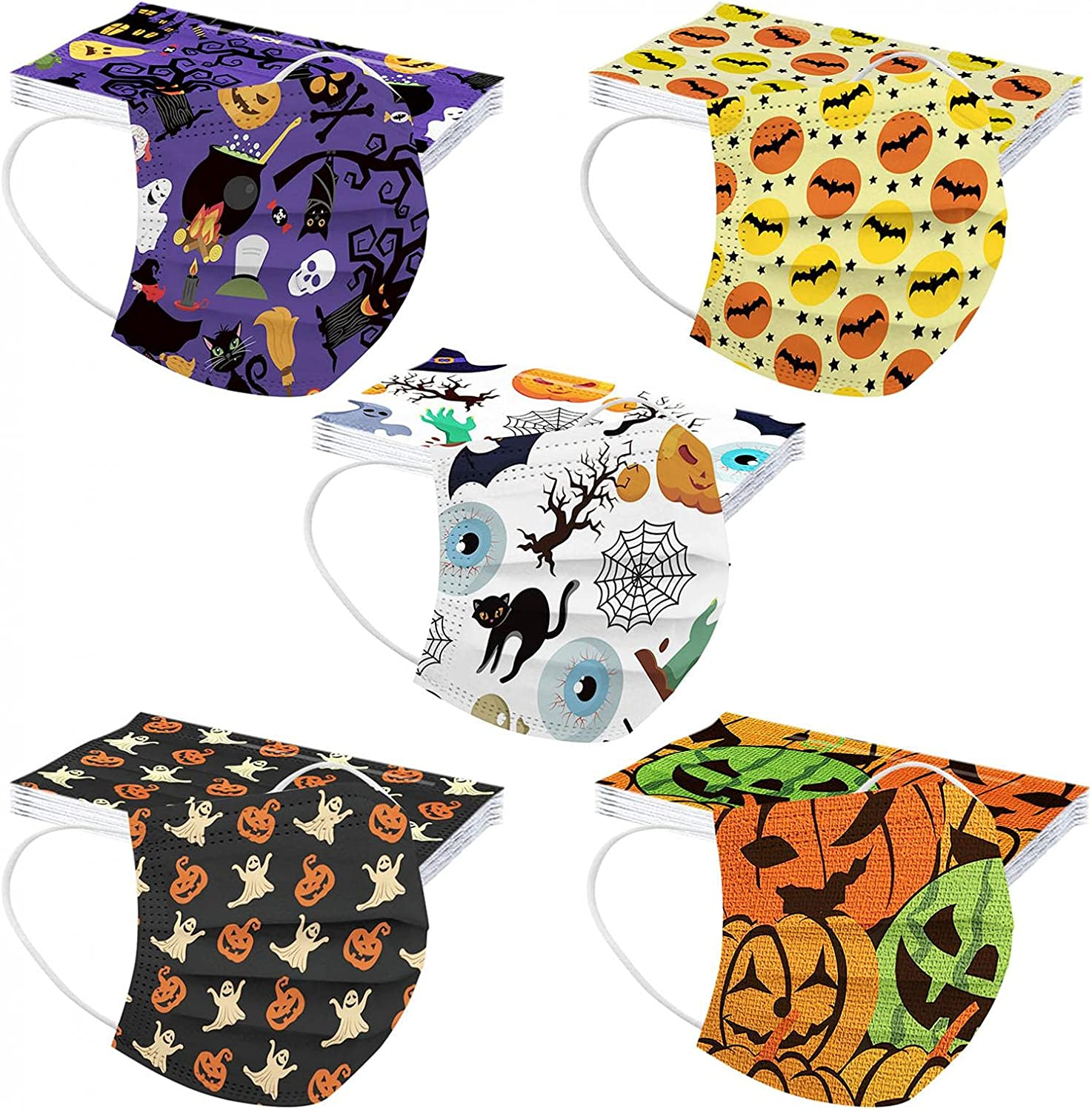 Kids Face Now free shipping Masks Halloween Quality inspection Disposable 50PCS 3Ply Breath Mask