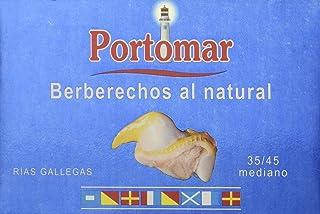 Berberechos de las Rías Gallegas al natural-35-45 pzs/lata-Portomar-Pack 4 x 111gr-total= 444gr.