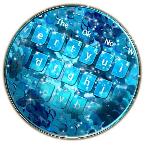 Glitter Sequin Flip Keyboard Theme