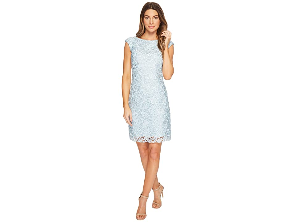LAUREN Ralph Lauren Montague Skylar Floral Dress (Pale Blue Multi) Women