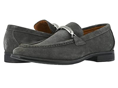 Stacy Adams Pasqual Moc Toe Bit Slip-On (Gray Suede) Men