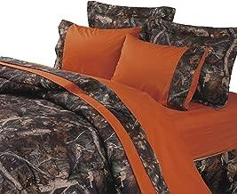 HiEnd Accents Hunter's Sheet Set, Queen, Orange - SL1001-Q