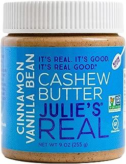 Julie's Real Cinnamon Vanilla Bean Cashew Butter - 9 Ounce Jar