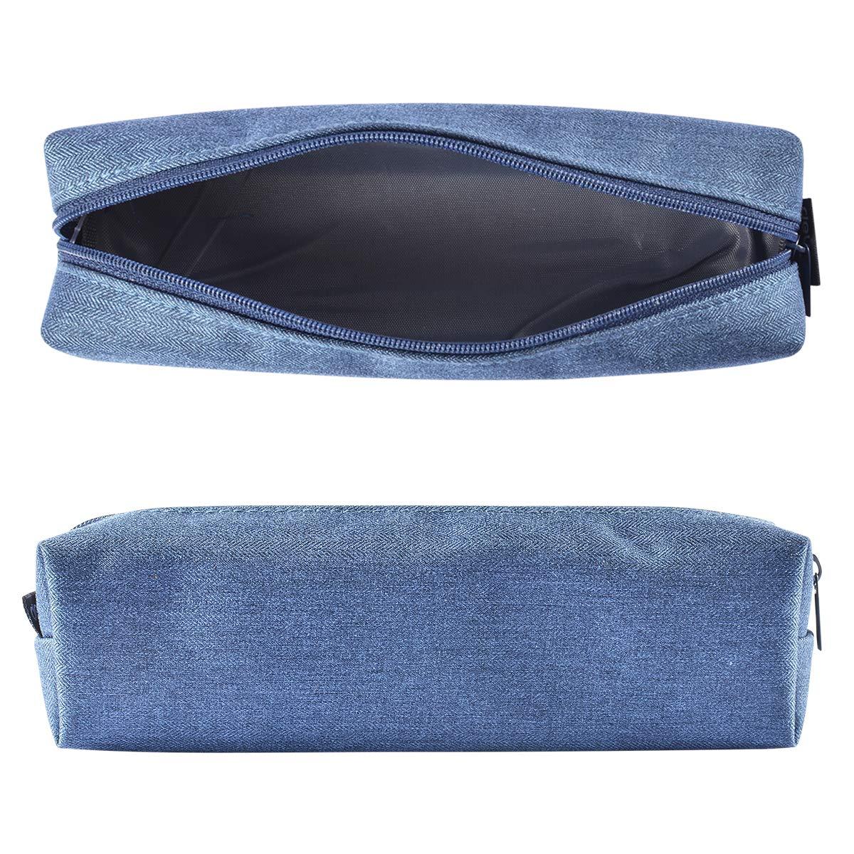 Coolzon® Pencil Case, Papeleria con Bolígrafos de Buena Capacidad y Estuche de Lápices como Material Escolar para Estudiantes Azul oscuro: Amazon.es: Oficina y papelería