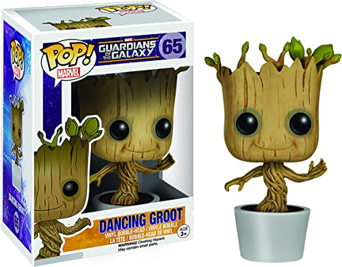 Funko 5104 Pop! Marvel: Dancing Groot Bobble Action Figure 3.75 inches