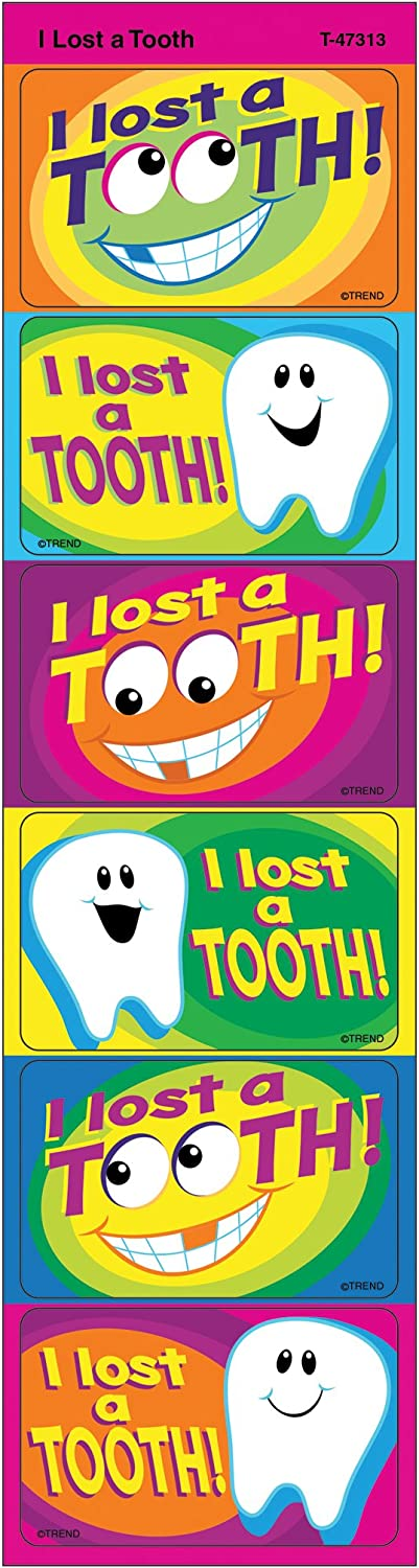 TREND ENTERPRISES INC. I Lost mart Rare Stickers Tooth Large Applause a