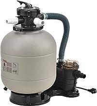 pro.tec Filtro de Arena con Bomba 400 W Diámetro del Filtro 40 cm Accesorio para Piscina hasta 40 kg de Arena Válvula con 5 Funciones Equipo Limpieza Depuradora de Agua Beige