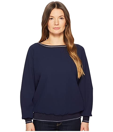 Big Sale For Sale Cheap Sale Cheap ESCADA Sport Nailar Long Sleeve Scoop Neck Top Navy Clearance New Arrival Clearance 100% Original 0IWLez
