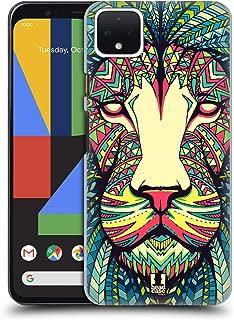 Head Case Designs Lion Aztec Animal Faces Hard Back Case Compatible for Google Pixel 4 XL
