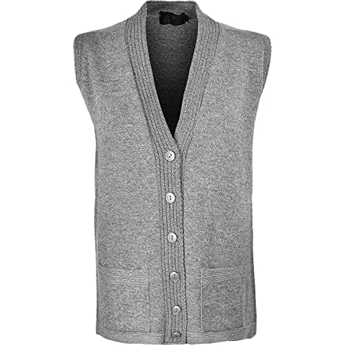 9987fdca210b5b Sonia Fashions Women s Sleeve Less Knitted Waistcoat Cardigan